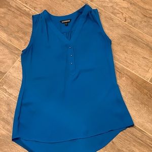 Express Blue Sleeveless Blouse